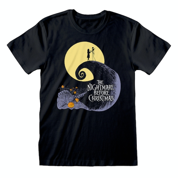 Nightmare Before Christmas - Silhouette Unisex X-Large T-Shirt - Black