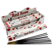 Red Rose (Pack Of 6) Stamford Hex Incense Sticks