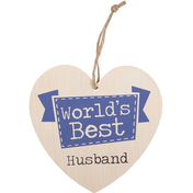 World's Best Husband Hanging Heart Sign
