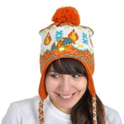 Pokemon Unisex Charizard Laplander Earflap Orange Beanie
