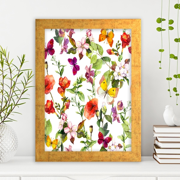 AC286262306 Multicolor Decorative Framed MDF Painting