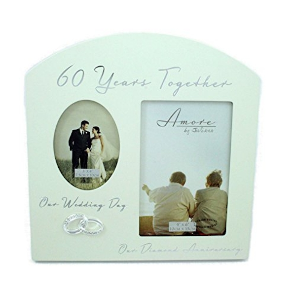 AMORE BY JULIANA? Double Anniversary Frame - 60 Years
