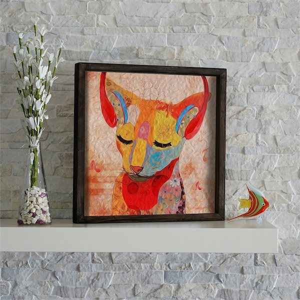 KZM491 Multicolor Decorative Framed MDF Painting