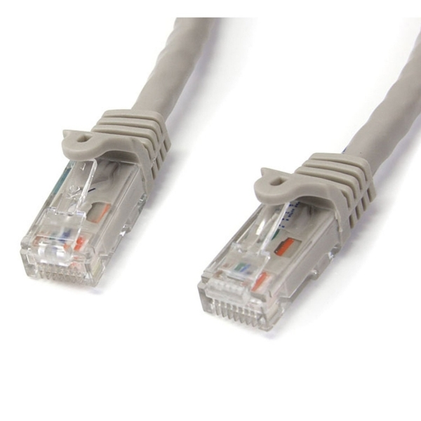 15 ft Gray Snagless Cat6 UTP Patch Cable - ETL Verified