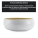 Bamboo Serving Bowl | M&W Small White - Image 2