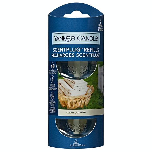 Image of Yankee Candle ScentPlug Clean Cotton Fragrance Refill (Case Of 4)