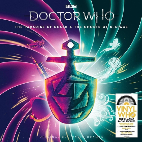 Doctor Who - The Paradise Of Death & The Ghosts Of N-Space Limited Edition Blue & Yellow Vinyl