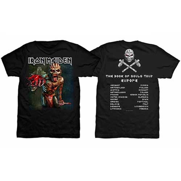 Iron Maiden - The Book of Souls European Tour Unisex Small T-Shirt - Black