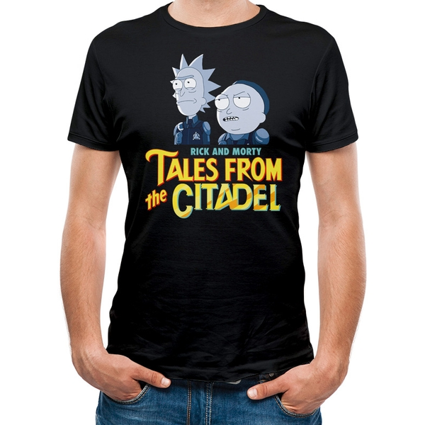 Rick And Morty - Tales Of The Citadel Men's Small T-Shirt - Black