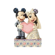 Two Souls One Heart (Mickey Mouse and Minnie Mouse) Disney Traditions Figurine