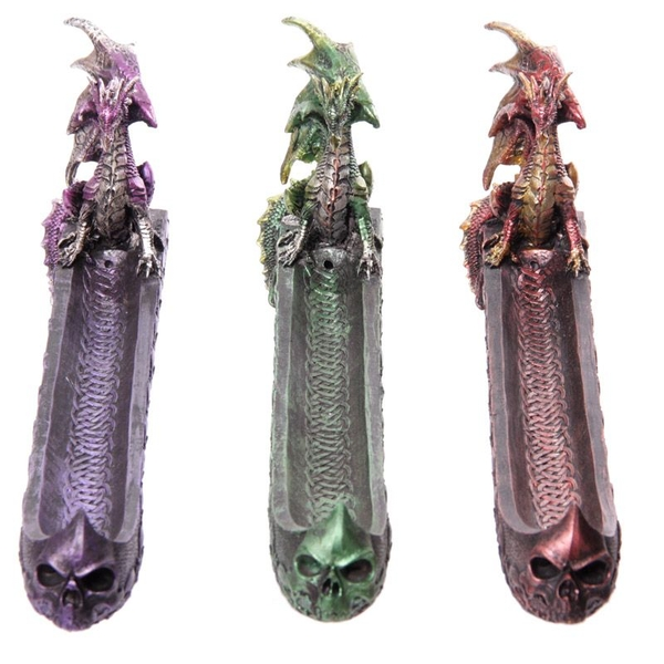 Dark Legends Dragon Incense Ashcatcher Boat (1 Random Supplied)