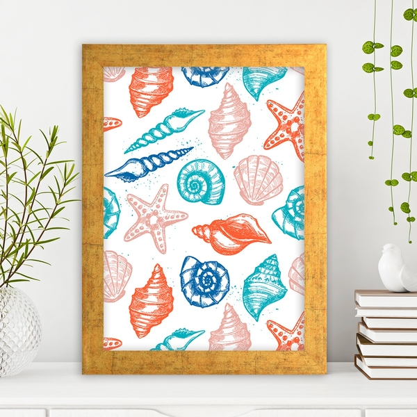 AC550128349 Multicolor Decorative Framed MDF Painting