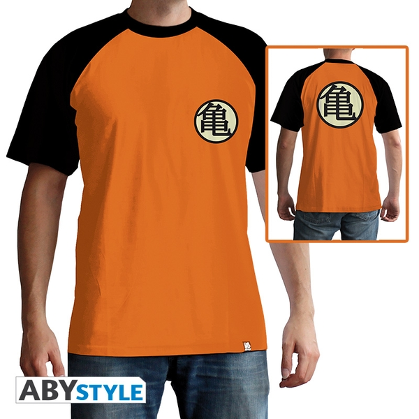 Dragon Ball - Kame Symbol Men's Large T-Shirt - Orange