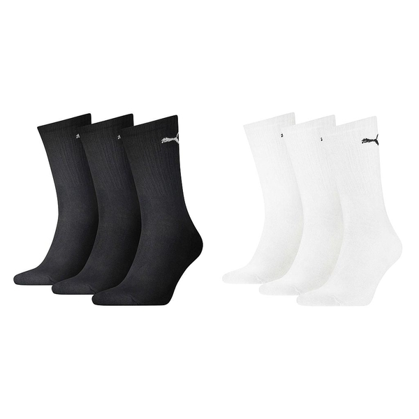 Puma Sport Crew Lightweight Sock White UK Size 2.5-5 (3 Pair)