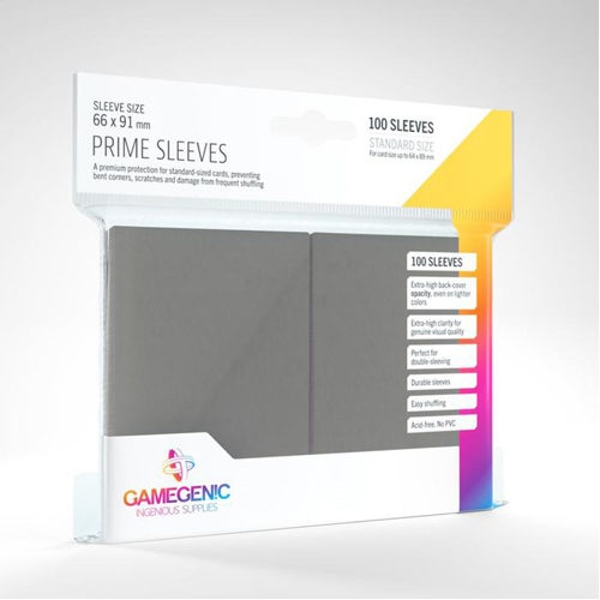 Gamegenic Prime Sleeves Gray (100 Sleeves)