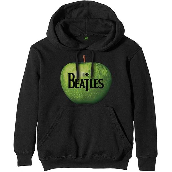 The Beatles - Apple Logo Unisex Small Pullover Hoodie - Black