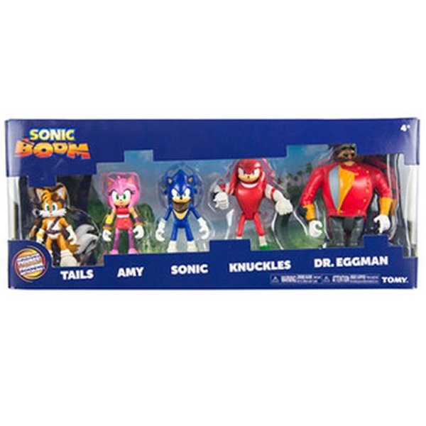 Sonic Boom - 5 Figure Multipack - Sonic, Knuckles, Tails, Amy & Dr. Eggman
