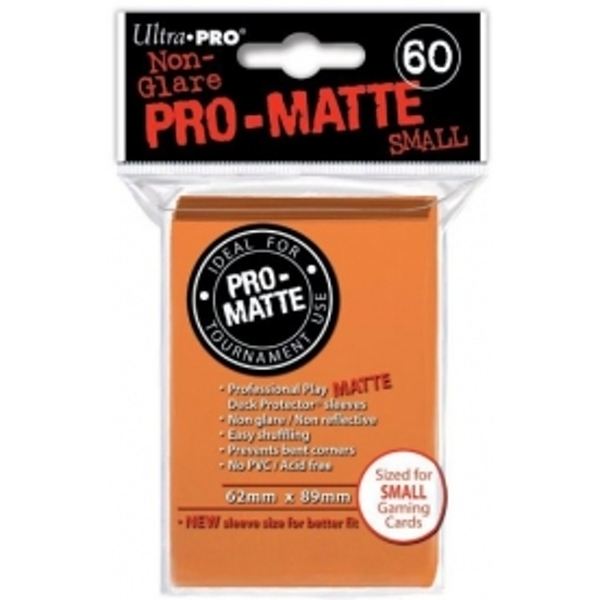 Ultra Pro Matte Small Orange DPD 10 Packs Of 60