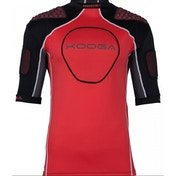 Kooga IPS Barricade Junior Protection Top Black/Red Small Boys
