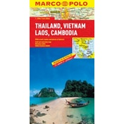Thailand, Vietnam, Laos, Cambodia Marco Polo Map by Marco Polo (Sheet map, folded, 2011)