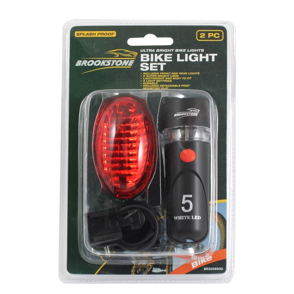 Brookstone Bike Light Set 2 Piece