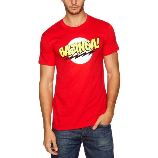 Big Bang Theory - Bazinga! Men's Medium T-Shirt - Red
