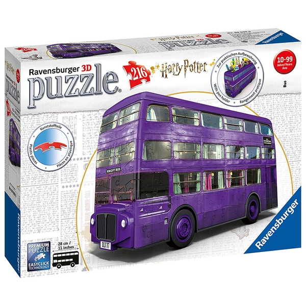 Ravensburger Harry Potter Knight Bus 216 Piece 3D Jigsaw Puzzle,