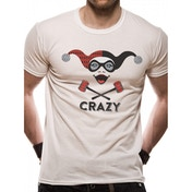 DC Originals - Harleyquinn Crazy Men's Small T-Shirt - White