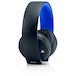 PS4 Official Sony PlayStation Gold Wireless Stereo Headset Black - Image 2
