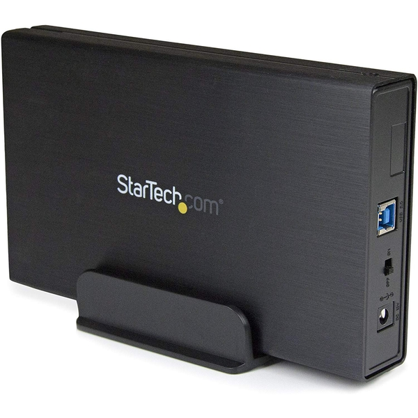 StarTech 3.5 inch Black USB 3.0 External SATA III Hard Drive Enclosure with UASP - Portable External HDD