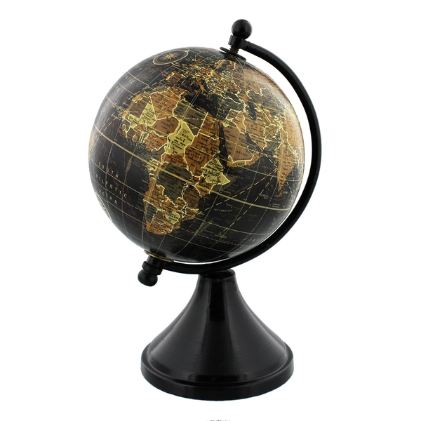 Emporium Globe with Metal & Wooden Base | 10cm