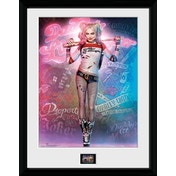 """Suicide Squad Harley Quinn Stand 12"""" x 16"""" Framed Collector Print"""