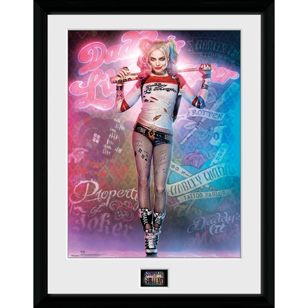 "Suicide Squad Harley Quinn Stand 12"" x 16"" Framed Collector Print"