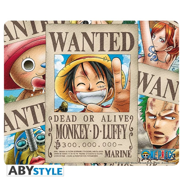One Piece - Wanted Pirates Mouse Mat
