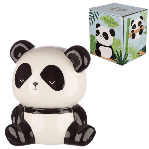 Ceramic Panda Shaped Money Box