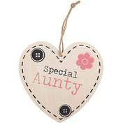 Special Aunty Hanging Heart Sign
