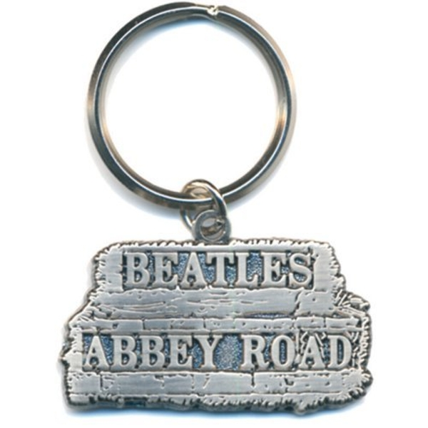 The Beatles - Abbey Road Sign in relief Keychain