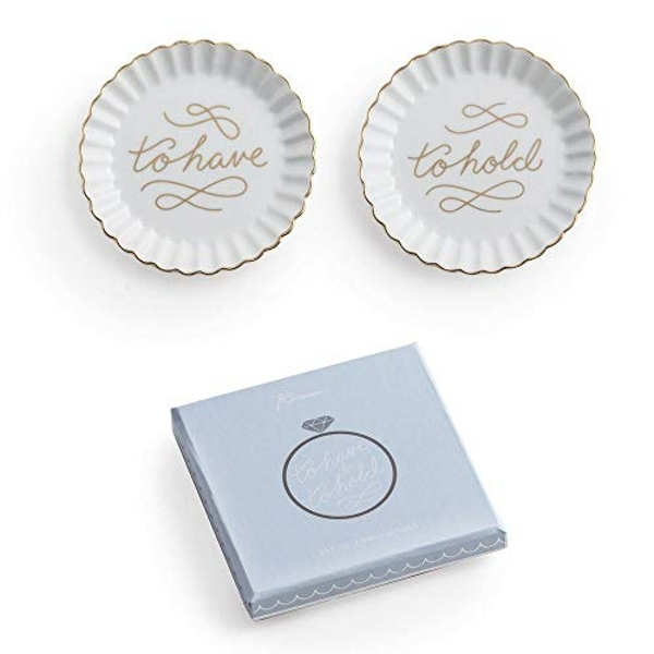 To Have & To Hold Ceramic Wedding Ring Dishes