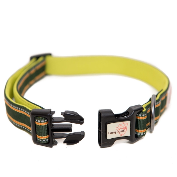 Long Paws Comfort Collection Collar XS Green