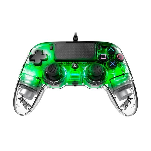 Image of Nacon Compact Wired Illuminated Light Edition Controller (Green) PS4