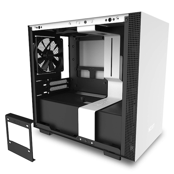 Image of NZXT H210 Mini-ITX Gaming Case - White Tempered Glass