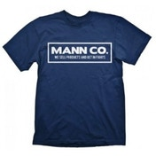 Team Fortress 2 Mann Co. Large Dark Blue T-Shirt
