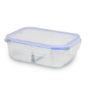 Set of 4 Glass Meal Prep Containers| M&W 2 Compartment