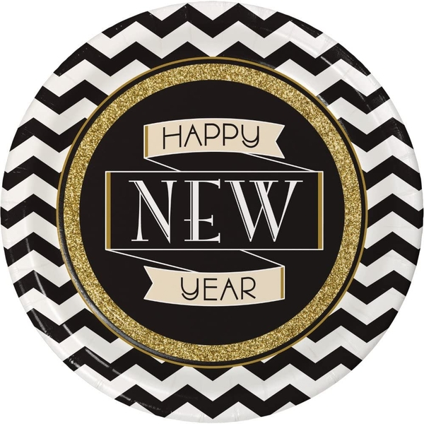 Happy New Year Celebrations Paper Plates
