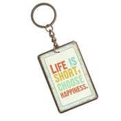 Life Is Short Choose Happiness Keyring by Heaven Sends