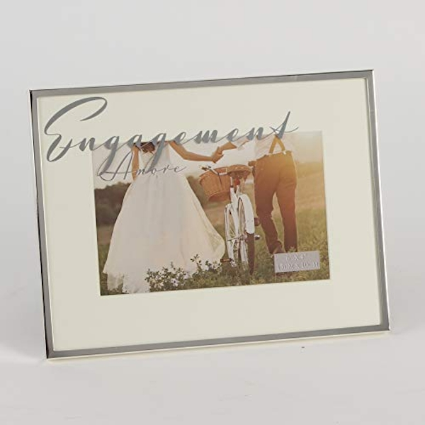 """6"""" x 4"""" - AMORE BY JULIANA? Silver Plated Frame - Engagement"""