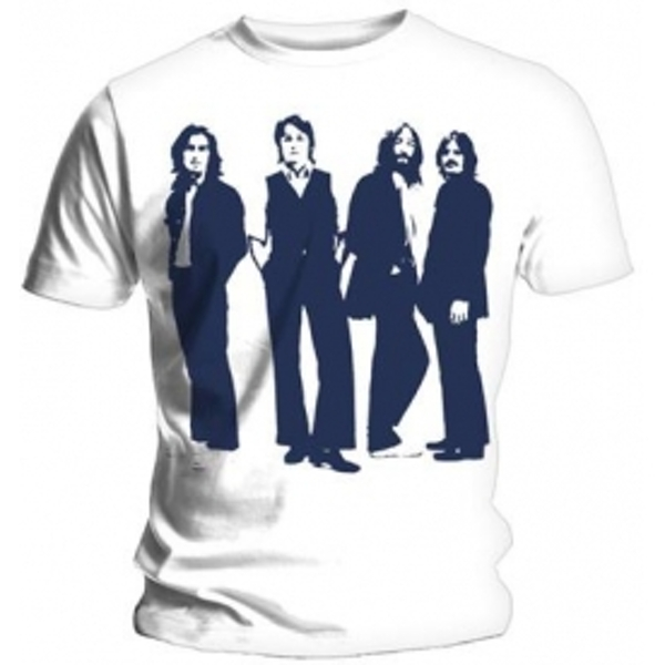 The Beatles Standing Mens White T Shirt: X Large