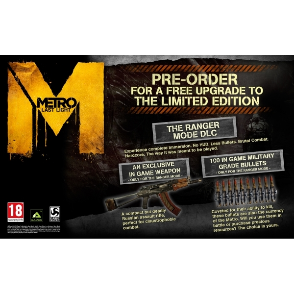 Metro Last Light Limited Edition Game Xbox 360 - Image 7
