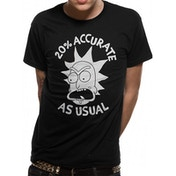 Rick And Morty - Accurate Men's X-Large T-shirt - Black