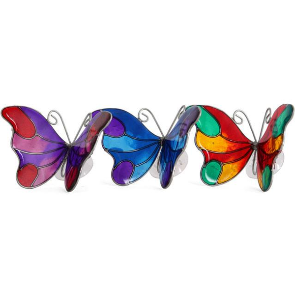 Box of 6 Butterfly Suncatchers With Suction Cups